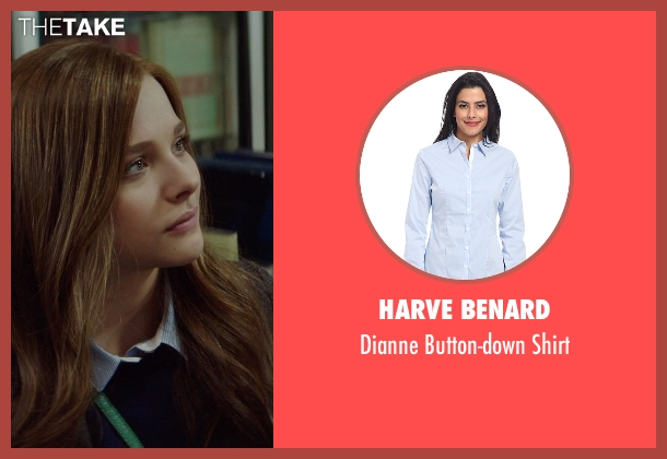 Harve Benard blue shirt from If I Stay seen with Chloë Grace Moretz (Mia Hall)