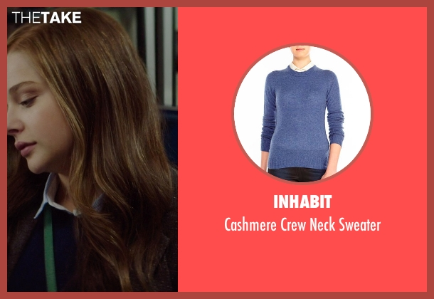 Inhabit blue sweater from If I Stay seen with Chloë Grace Moretz (Mia Hall)