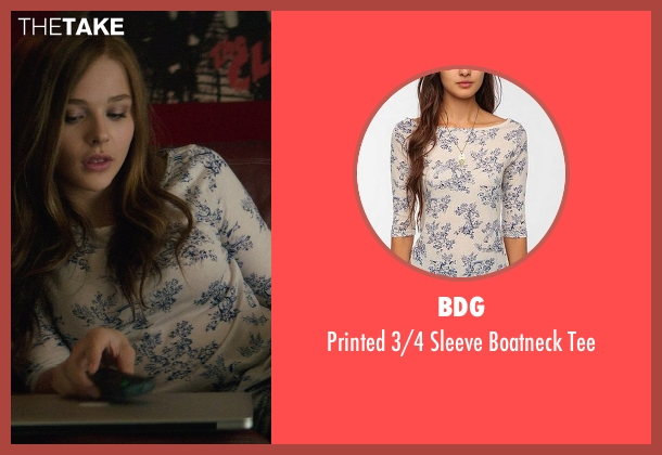 BDG blue tee from If I Stay seen with Chloë Grace Moretz (Mia Hall)