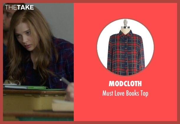 ModCloth blue top from If I Stay seen with Chloë Grace Moretz (Mia Hall)
