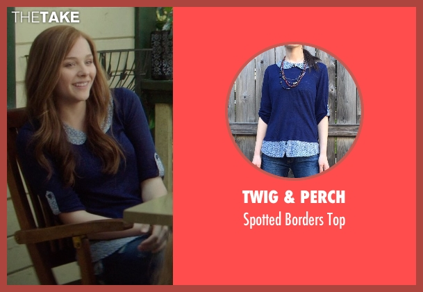 Twig & Perch blue top from If I Stay seen with Chloë Grace Moretz (Mia Hall)
