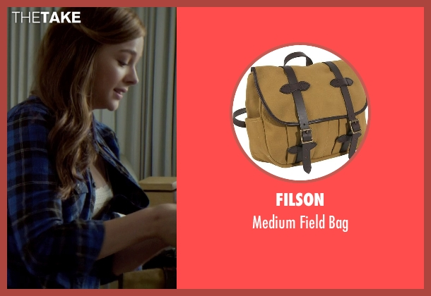 Filson brown bag from If I Stay seen with Chloë Grace Moretz (Mia Hall)