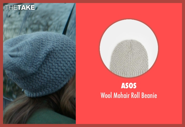 ASOS gray beanie from If I Stay seen with Chloë Grace Moretz (Mia Hall)