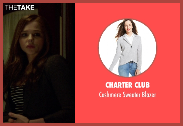 Charter Club gray blazer from If I Stay seen with Chloë Grace Moretz (Mia Hall)