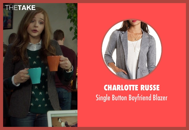 Charlotte Russe gray blazer from If I Stay seen with Chloë Grace Moretz (Mia Hall)