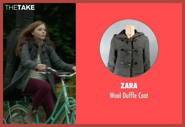 Zara gray coat from If I Stay seen with Chloë Grace Moretz (Mia Hall)