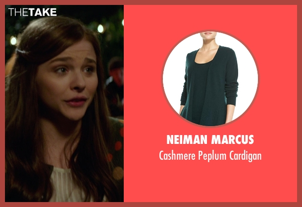 Neiman Marcus green cardigan from If I Stay seen with Chloë Grace Moretz (Mia Hall)