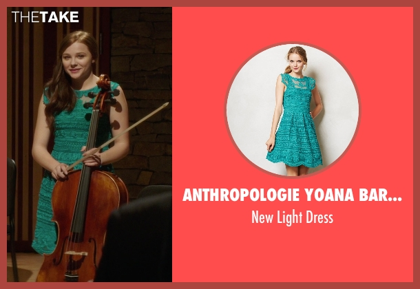Anthropologie Yoana Baraschi green dress from If I Stay seen with Chloë Grace Moretz (Mia Hall)