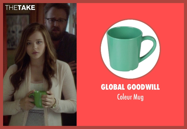 Global Goodwill green mug from If I Stay seen with Chloë Grace Moretz (Mia Hall)