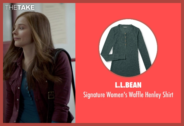 L.L.Bean green shirt from If I Stay seen with Chloë Grace Moretz (Mia Hall)