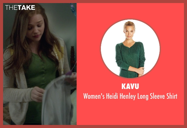 KAVU green shirt from If I Stay seen with Chloë Grace Moretz (Mia Hall)