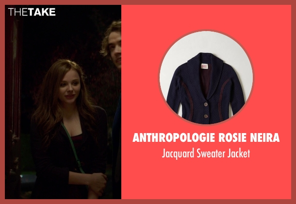 Anthropologie Rosie Neira purple jacket from If I Stay seen with Chloë Grace Moretz (Mia Hall)