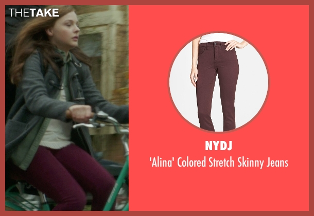 NYDJ red jeans from If I Stay seen with Chloë Grace Moretz (Mia Hall)