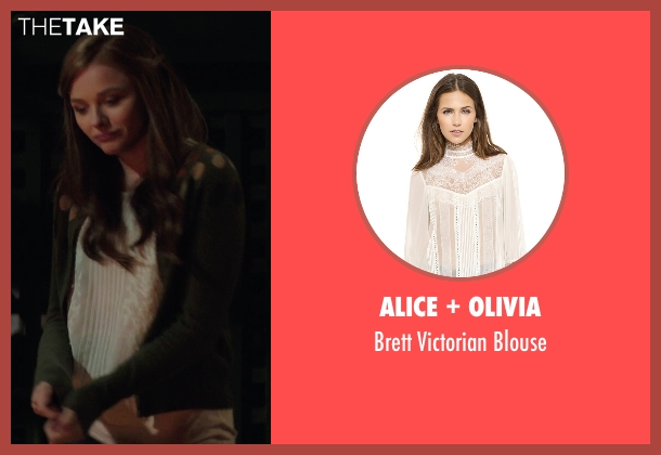 Alice + Olivia white blouse from If I Stay seen with Chloë Grace Moretz (Mia Hall)
