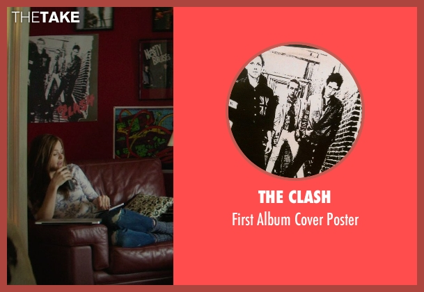 The Clash white poster from If I Stay seen with Chloë Grace Moretz (Mia Hall)