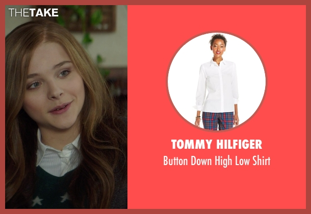 Tommy Hilfiger white shirt from If I Stay seen with Chloë Grace Moretz (Mia Hall)