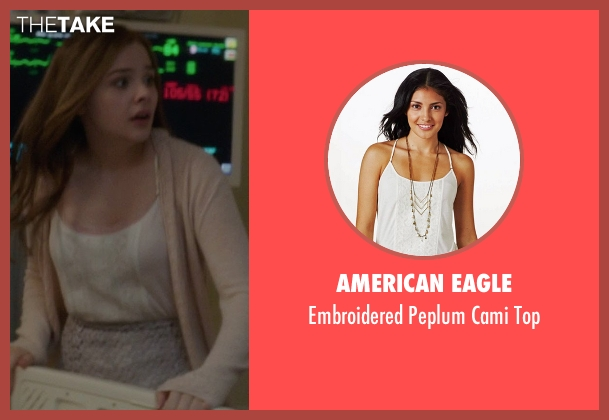 American Eagle white top from If I Stay seen with Chloë Grace Moretz (Mia Hall)