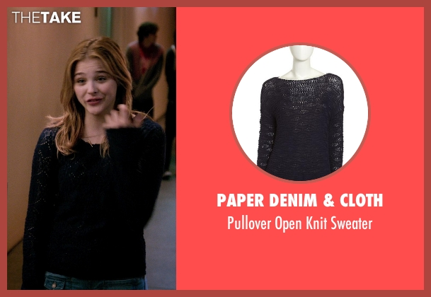 Paper Denim & Cloth blue sweater from Laggies seen with Chloë Grace Moretz (Annika)