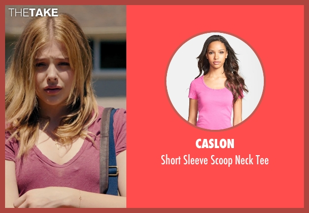 Caslon pink tee from Laggies seen with Chloë Grace Moretz (Annika)