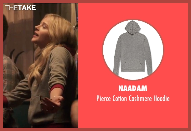 Naadam gray hoodie from Neighbors 2: Sorority Rising seen with Chloë Grace Moretz (Shelby)