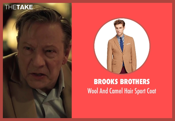 Brooks Brothers beige coat from Demolition seen with Chris Cooper (Phil)