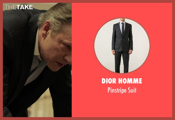 Dior Homme black suit from Demolition seen with Chris Cooper (Phil)
