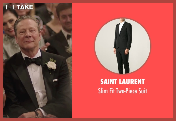Saint Laurent black suit from Demolition seen with Chris Cooper (Phil)