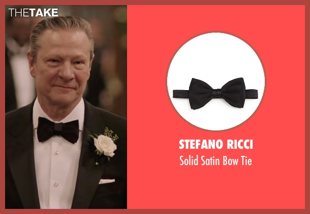 Stefano Ricci black tie from Demolition seen with Chris Cooper (Phil)