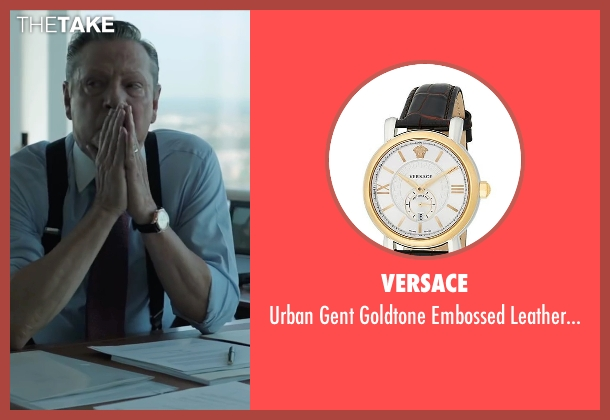 Versace gold watch from Demolition seen with Chris Cooper (Phil)