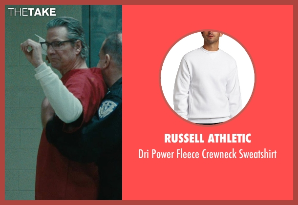 Russell Athletic white sweatshirt from The Town seen with Chris Cooper (Stephen MacRay)