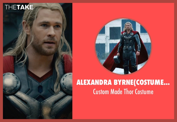 Alexandra Byrne	(Costume Designer) costume from Avengers: Age of Ultron seen with Chris Hemsworth (Thor)