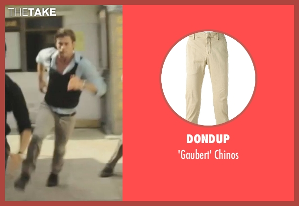 Dondup beige chinos from Blackhat seen with Chris Hemsworth (Nicholas Hathaway)