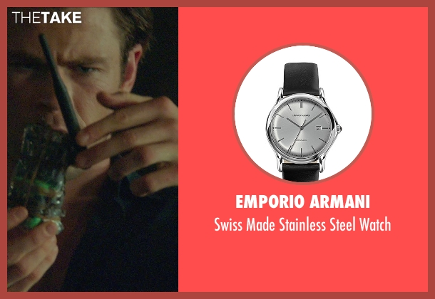 Emporio Armani black watch from Blackhat seen with Chris Hemsworth (Nicholas Hathaway)