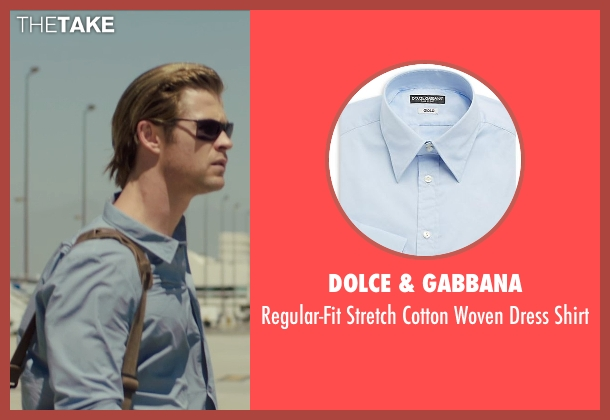 Dolce & Gabbana blue shirt from Blackhat seen with Chris Hemsworth (Nicholas Hathaway)