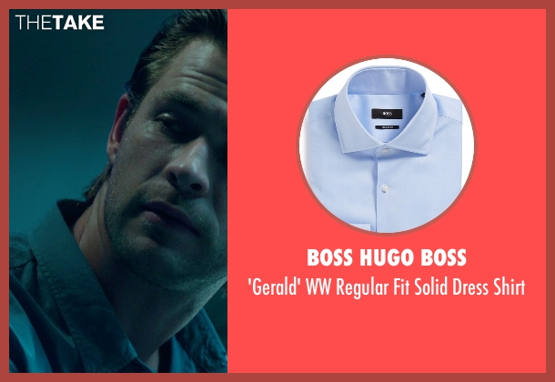 Boss Hugo Boss blue shirt from Blackhat seen with Chris Hemsworth (Nicholas Hathaway)