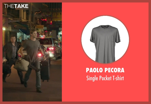 Paolo Pecora gray t-shirt from Blackhat seen with Chris Hemsworth (Nicholas Hathaway)