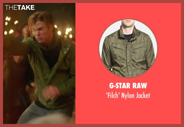 G-Star Raw green jacket from Blackhat seen with Chris Hemsworth (Nicholas Hathaway)