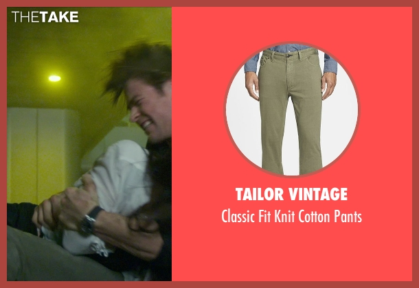 Tailor Vintage green pants from Blackhat seen with Chris Hemsworth (Nicholas Hathaway)