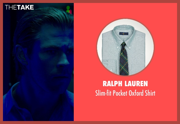 Ralph Lauren green shirt from Blackhat seen with Chris Hemsworth (Nicholas Hathaway)