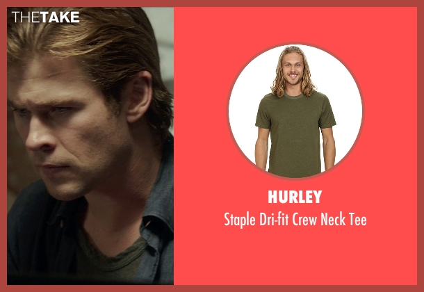 Hurley green tee from Blackhat seen with Chris Hemsworth (Nicholas Hathaway)