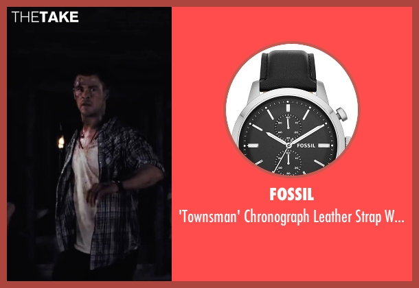 Fossil black watch from Cabin in the Woods seen with Chris Hemsworth (Curt)