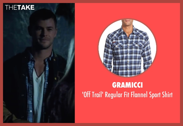 Gramicci blue shirt from Cabin in the Woods seen with Chris Hemsworth (Curt)