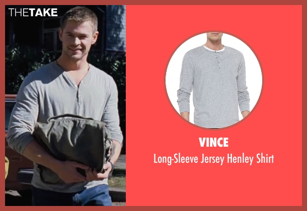 Vince gray shirt from Cabin in the Woods seen with Chris Hemsworth (Curt)