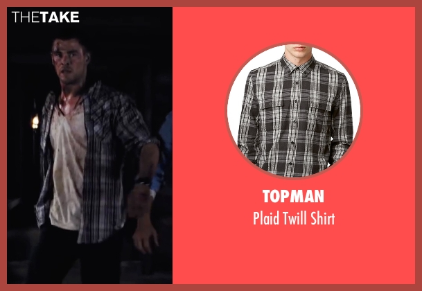 Topman gray shirt from Cabin in the Woods seen with Chris Hemsworth (Curt)