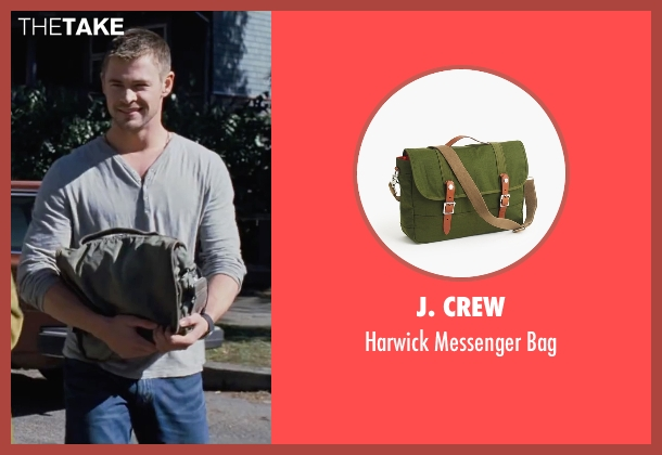 J. Crew green bag from Cabin in the Woods seen with Chris Hemsworth (Curt)