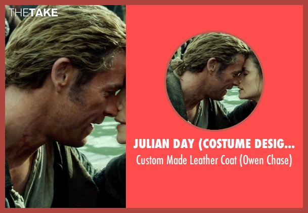 Julian Day (Costume Designer) black coat from In the Heart of the Sea seen with Chris Hemsworth (Owen Chase)