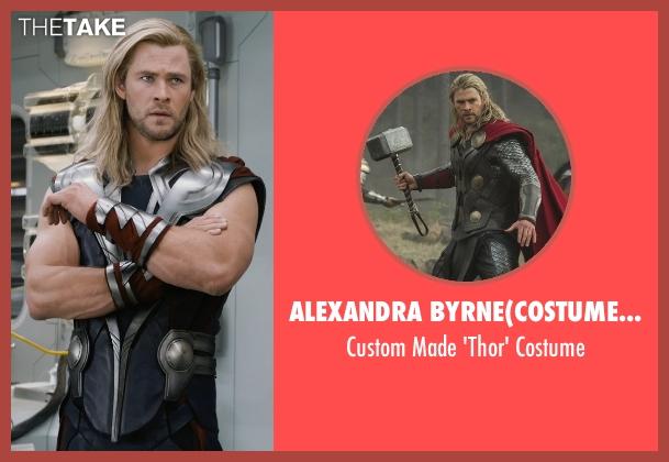 Alexandra Byrne(Costume Designer) costume from Marvel's The Avengers seen with Chris Hemsworth (Thor)