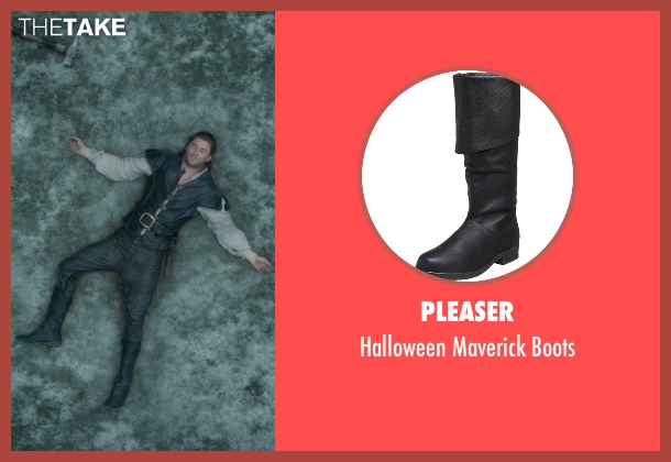Pleaser black boots from The Huntsman: Winter's War seen with Chris Hemsworth (The Huntsman)
