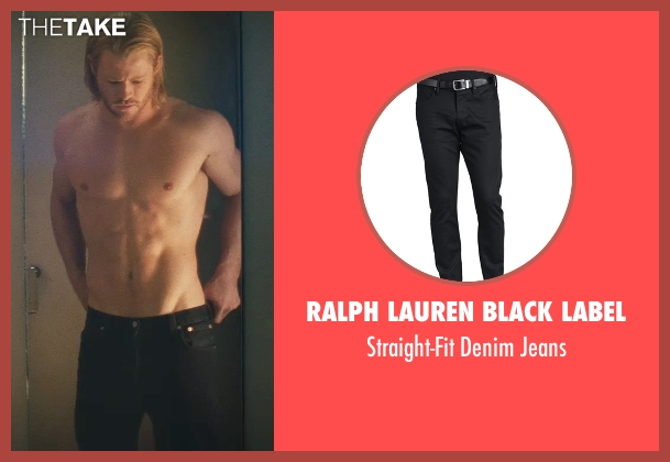 Ralph Lauren Black Label black jeans from Thor seen with Chris Hemsworth (Thor)