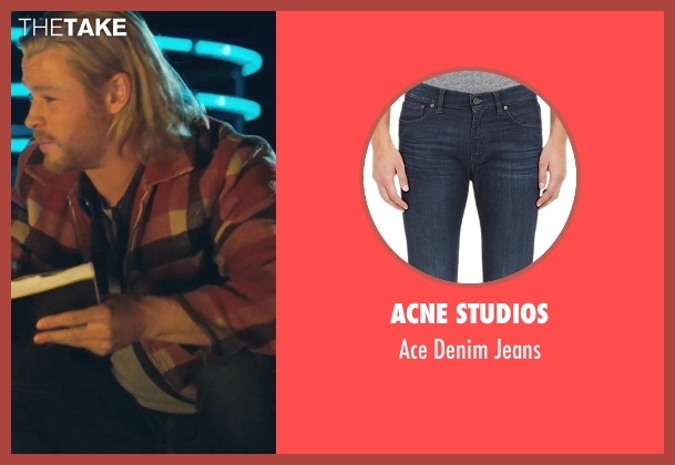 Acne Studios blue jeans from Thor seen with Chris Hemsworth (Thor)
